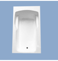 2272 Novella 72 x 42 Rectangle Drop In Tub with Arm Rest