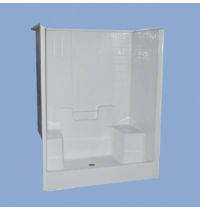 "3310 Berkeley 60"" Two Seat Simulated Tile Shower"
