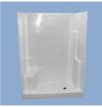 "36036 Lewis 60"" One Piece One Seat Shower"