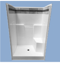 "48R Hybrid 48"" One Piece Shower"