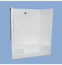 "5118 Coleman 60"" Garden Tub Shower with Front Step"