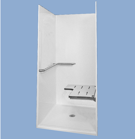 "74838 Sam 48"" One Piece Barrier Free Shower"