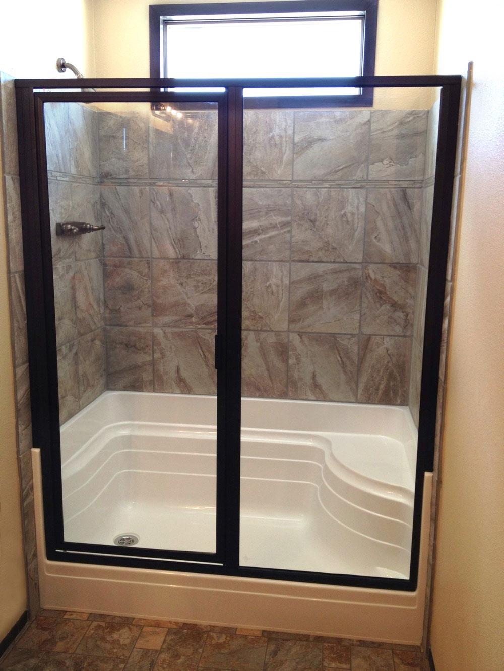 5148 Mccarron 48 Quot One Seat Shower Pan Baymont Bathware